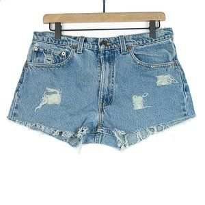 Vintage Levi's 555 Distressed and Frayed Cutoffs
